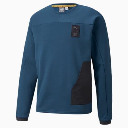 푸마 x 퍼스트 마일 트레이닝 스웨트셔츠/FIRST MILE FT SWEATSHIRT, Intense Blue, small-KOR