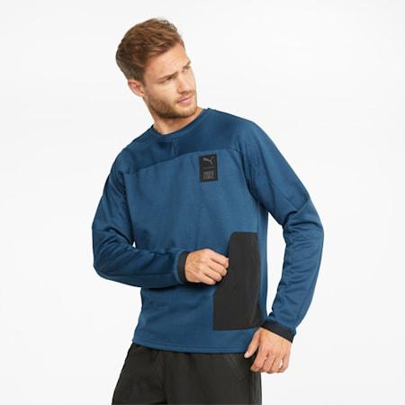 PUMA x FIRST MILE Men's Training Sweatshirt, Intense Blue, small