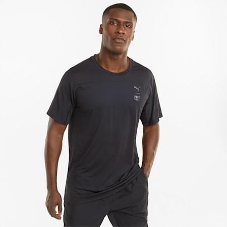 푸마 x 퍼스트 마일 트레이닝 티셔츠/TRAIN FIRST MILE TEE, Puma Black, small-KOR