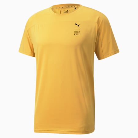 PUMA x FIRST MILE Men's Training Tee, Mineral Yellow, small-SEA