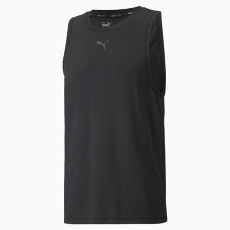 Studio Yogini Men's Training Tank Top, Puma Black, small-SEA