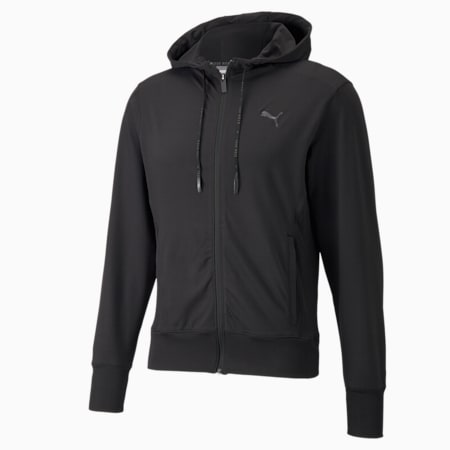 Studio Yogini Men's Training Jacket, Puma Black, small