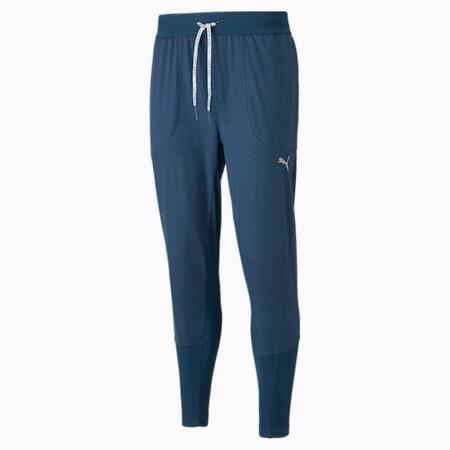 Pantalones de entrenamiento Studio Yogini para hombre, Intense Blue Heather, pequeño
