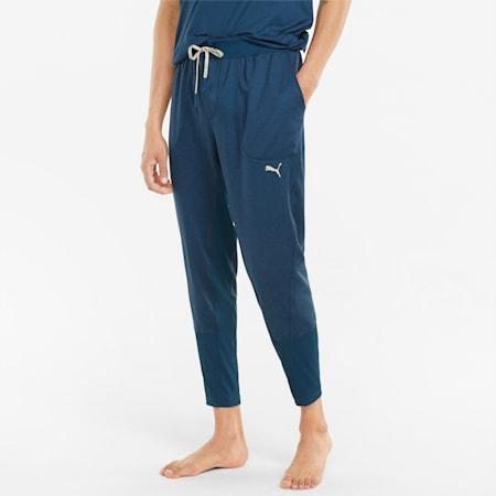 Studio Yogini joggingbroek heren, Intense Blue Heather, small