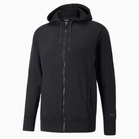 Studio Men's Performance Wash Jacket, Puma Black, small-IND