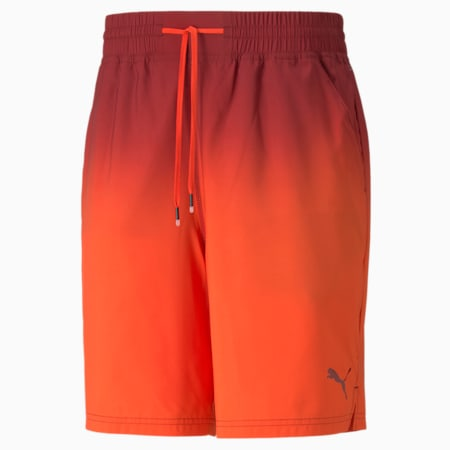 """Fade Printed Woven 7"""" Men's Training Shorts, Intense Red, small-GBR"""