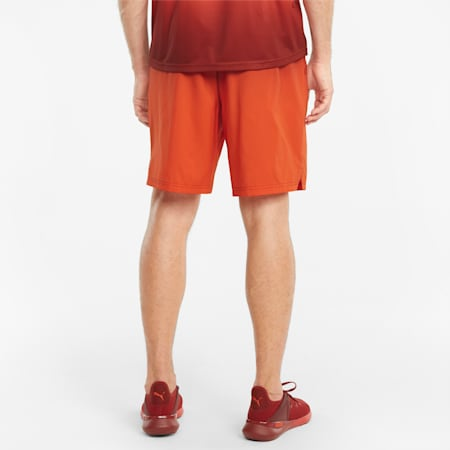 """Fade Printed Woven 7"""" Men's Training Shorts, Intense Red, small"""