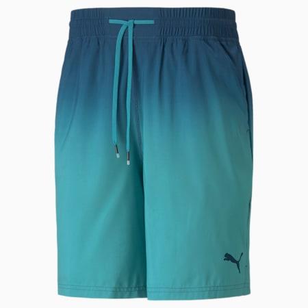 """Shorts de entrenamiento de punto Fade Printed 7"""" para hombre, Intense Blue, pequeño"""