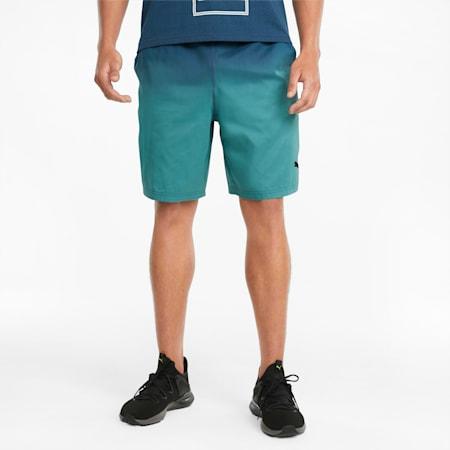 "Fade Printed Woven 7"" Men's Training Shorts, Intense Blue, small"