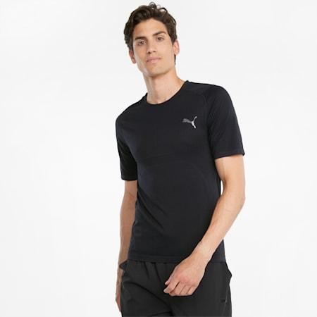 EVOKNIT+ Short Sleeve 트레이닝 티셔츠/TRAIN EVOKNIT SS TEE, Puma Black, small-KOR