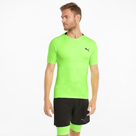 Męski T-shirt treningowy EVOKNIT+ z krótkim rękawem, Green Glare, small