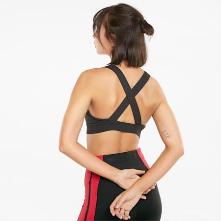 Own It Mid Impact Women's Training Sports Bra, Puma Black, small