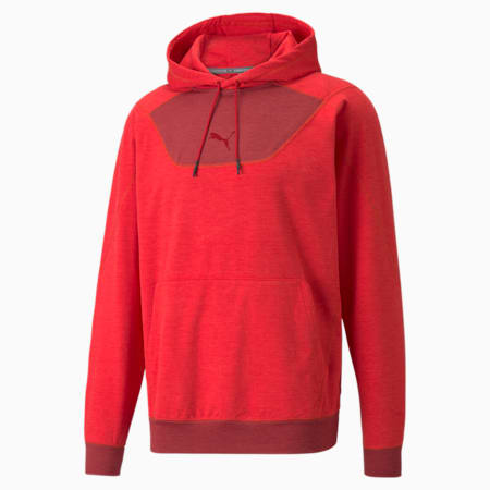 CLOUDSPUN Men's Training Hoodie, High Risk Red-Intense Red Heather, small