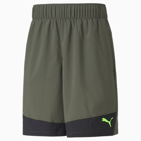 "Favourite Woven 10"" Men's Training Shorts, Grape Leaf-Puma Black, small-GBR"