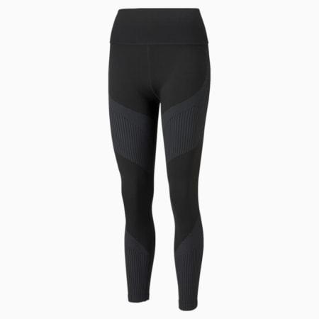 Legging d'entraînement taille haute 7/8 sans couture, femme, Noir PUMA-asphalte, petit