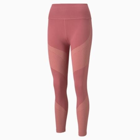 Leggings de entrenamiento sin costura con cintura alta 7/8 para mujer, Mauvewood-Peach Parfait, pequeño