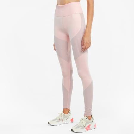 Seamless High Waist 7/8 Women's Training Leggings, Lotus-High Rise, small