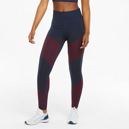 Damskie legginsy treningowe bezszwowe z wysokim stanem 7/8, Spellbound-Sunblaze, small