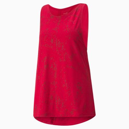 Camiseta sin mangas de entrenamiento Forever Luxe para mujer, Persian Red-Estampado mate, pequeño