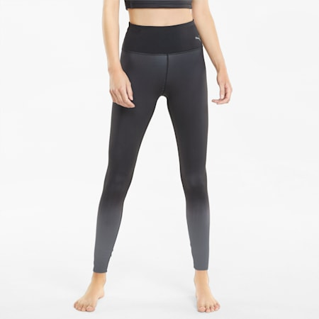 STUDIO Ombre High Waist Full-Length Women's Training Leggings, Puma Black-Asphalt-ombre print, small