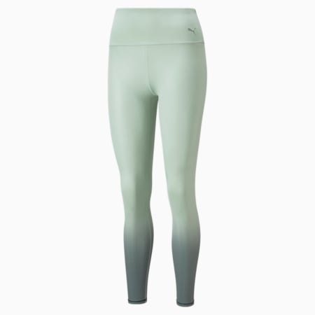 Studio Ombre Women's Full Slim Tights, Frosty Green-Midnight Green-ombre print, small-IND