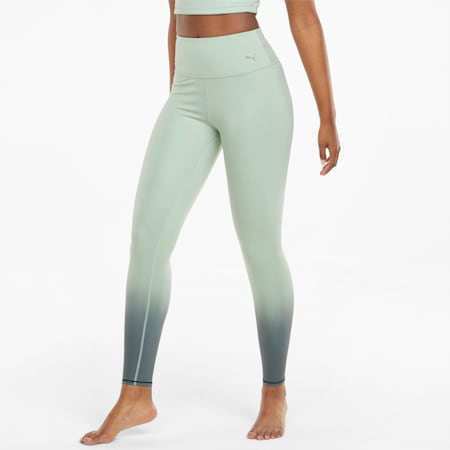 Legging d'entraînement pleine longueur à taille haute STUDIO Ombre, femme, Vert forêt-Vert minuit-Imprimé ombré, petit