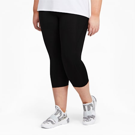 Mallas de entrenamiento de cintura alta y largo 3/4 para mujer, Puma Black, small