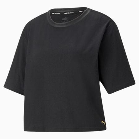 Camiseta de entrenamiento Moto para mujer, Puma Black, pequeño