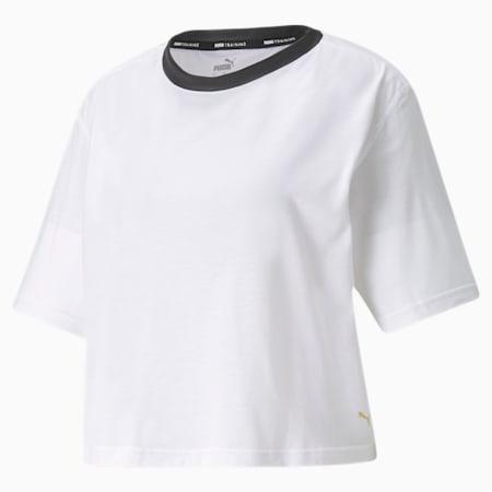 Camiseta de entrenamiento Moto para mujer, Puma White, pequeño