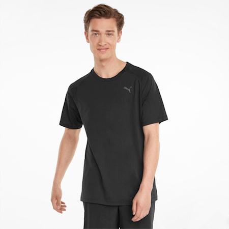 Studio Yogini Short Sleeve Men's Training Tee, Puma Black, small