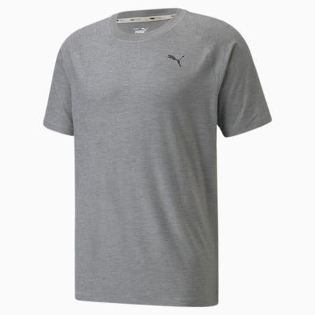 Camiseta de entrenamiento de manga corta Studio Yogini para hombre, Medium Gray Heather, pequeño