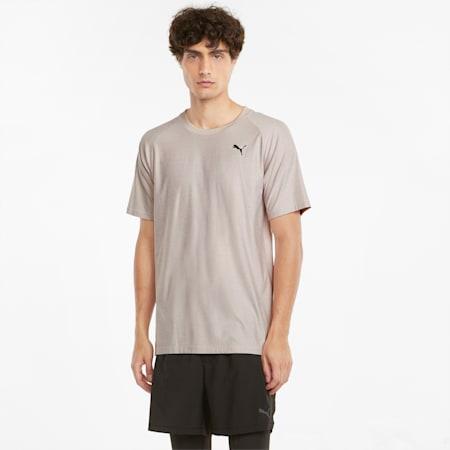 T-shirt de sport à manches courtes Studio Yogini homme, Peyote Heather, small