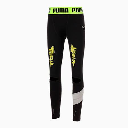 スクランブル scRUNble ランニング ロング タイツ, Puma Black, small-JPN