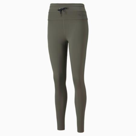 Długie damskie legginsy treningowe z wysokim stanem PUMA x GOOP, Grape Leaf, small