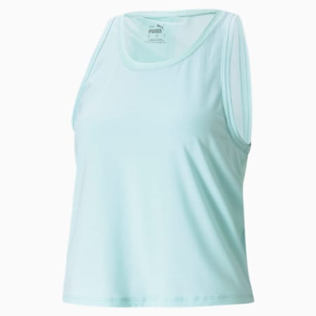 Camiseta sin mangas de entrenamiento Forever Luxe para mujer, Eggshell Blue, pequeño