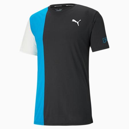 T-shirt da allenamento Excite uomo, Puma Black-Hawaiian Ocean, small