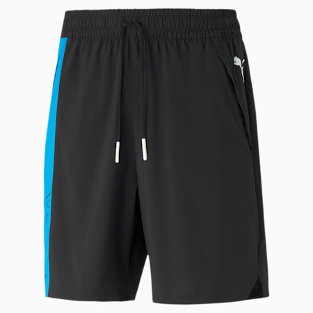 Shorts da allenamento in tessuto Excite uomo, Puma Black, small