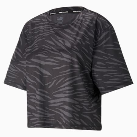 Camiseta Performance AOP para mujer, Puma Black, pequeño