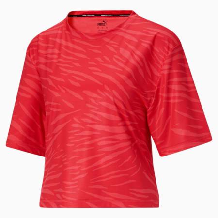 T-shirt Performance AOP, femme, Rose paradisiaque, petit