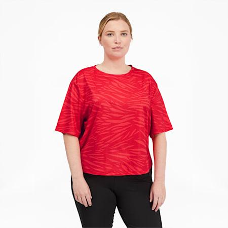 T-shirt Performance AOP PL, femme, Rose paradisiaque, petit