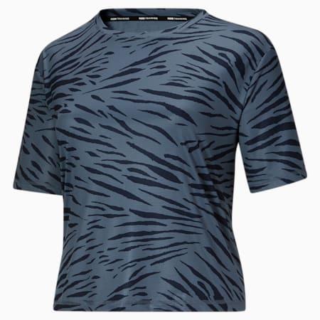 T-shirt Performance AOP PL, femme, Bleu de Chine, petit