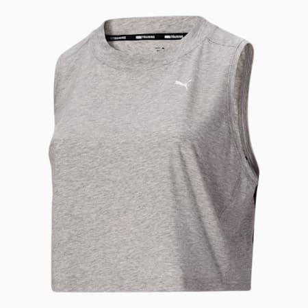 Camiseta sin mangas corta con logo PL, Light Gray Heather, pequeño