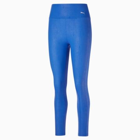 Collants taille haute 7/8 Moto, femme, Bleu nébuleux-argent, petit