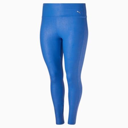 Collants taille haute 7/8 Moto PL, femme, Bleu nébuleux-argent, petit