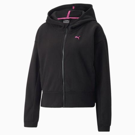 PUMA x BARBELLS FOR BOOBS Zip Front Women's Training Hoodie, Puma Black, small