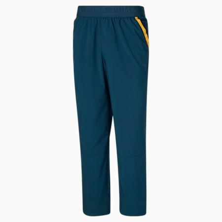 Pantalon d'entraînement tissé, homme, Bleu intense, petit