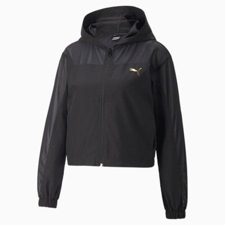 PUMA x PAMELA REIF Woven Mesh Women's Training Jacket, Puma Black, small