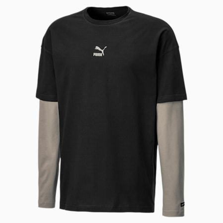 Long Sleeve Men's Tee, Puma Black, small