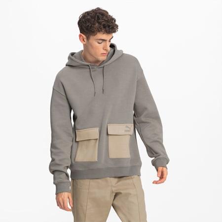 Camisola com capuz Utility para homem, Elephant Skin, small