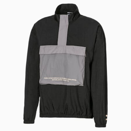 Half Zip Men's Anorak, Puma Black, small